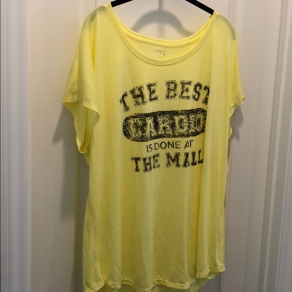 Style & Co Other - Style & Sport yellow tee shirt nighty brand new